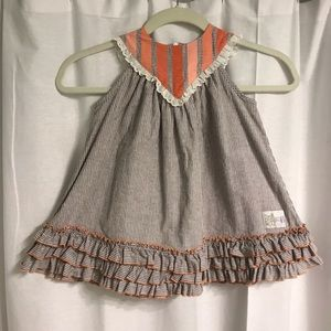 Well Dressed Wolf Rosie Creamsicle Dress, Size 3T